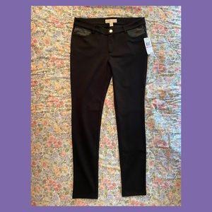Michael Kors Skinny Pants with Fake Leather